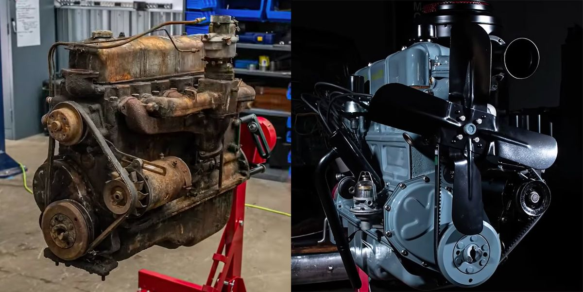 Watch This Chevy Straight-Six Engine Get Rebuilt in 10 Minutes
