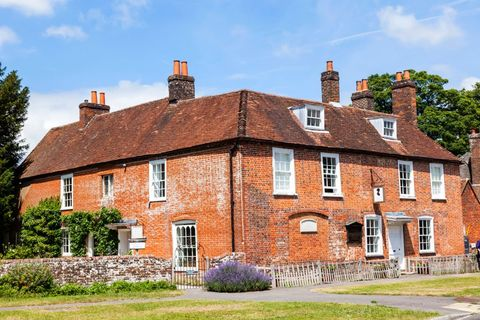 england, hampshire, chawton, jane austen's house and museum