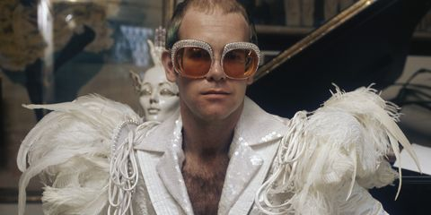 Elton John Christmas Outfit.Elton John Performances Photos Elton John Vintage Tour Looks