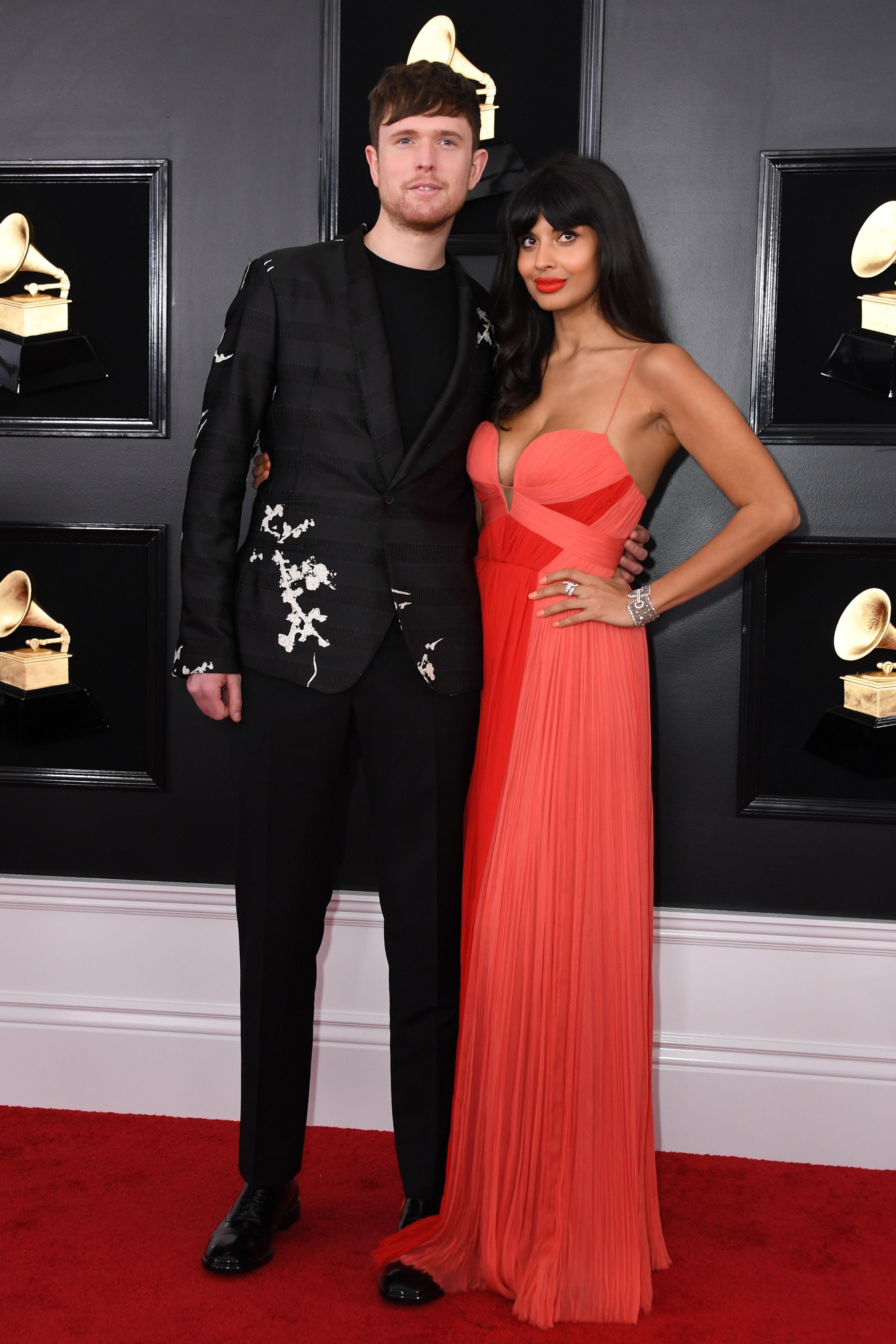 Jameela Jamil James Blake Grammys