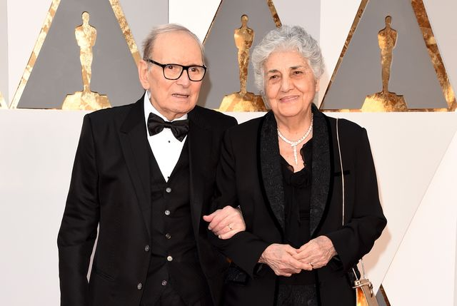 hollywood, ca   february 28  italian composer ennio morricone and his wife maria travia attend the 88th annual academy awards at hollywood  highland center on february 28, 2016 in hollywood, california  photo by jason merrittgetty images