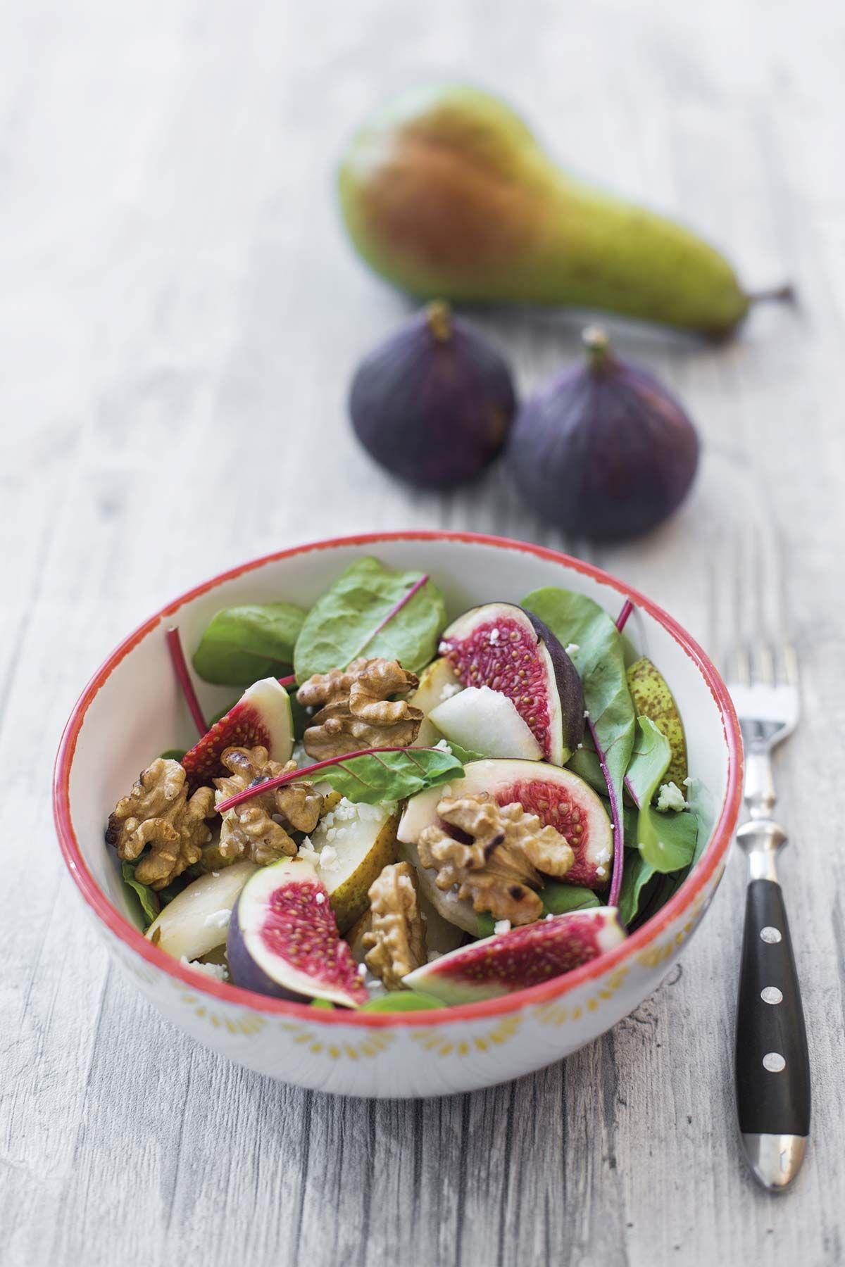 Ensaladas con fruta: Ensalada de acelgas, brevas y peras