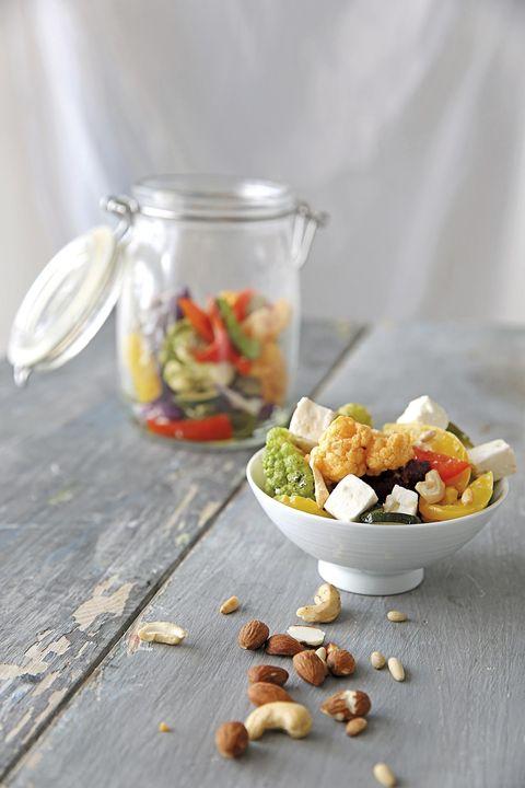 Ensalada de otoño con verduras