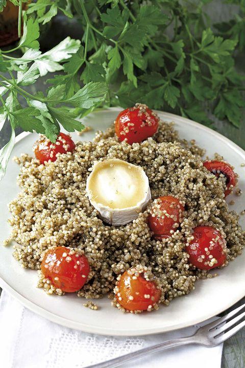 Ensalada de quinoa con queso de cabra