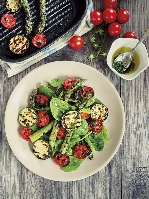 ensalada de verduras a la plancha