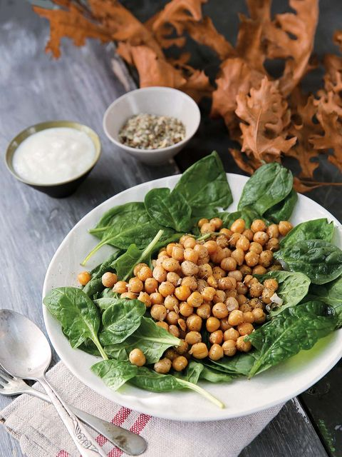 Dish, Food, Cuisine, Ingredient, Vegetable, Chickpea, Leaf vegetable, Spinach, Vegetarian food, Plant,
