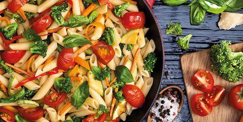 Dish, Food, Cuisine, Vegetable, Pasta salad, Ingredient, Salad, Tomato, Vegetarian food, Italian food,