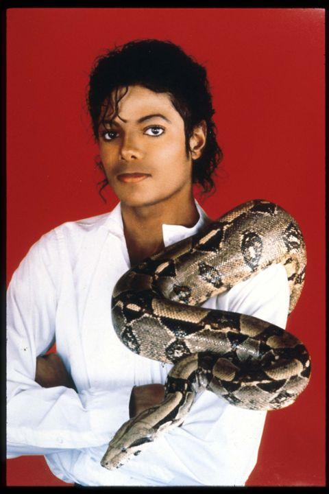 michael jackson   with pet snake