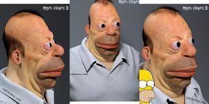Homer Simpson escultura 3D