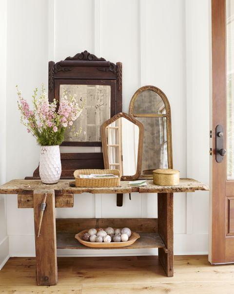 entryway mirrors spring decoratio