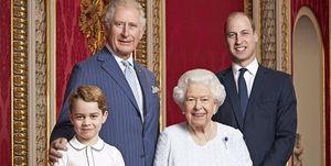 Prince George Queen Elizabeth, Prince Charles, Prince William