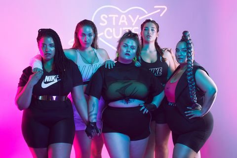 Nederlandse plus-size modellen poseren in Nike kleding