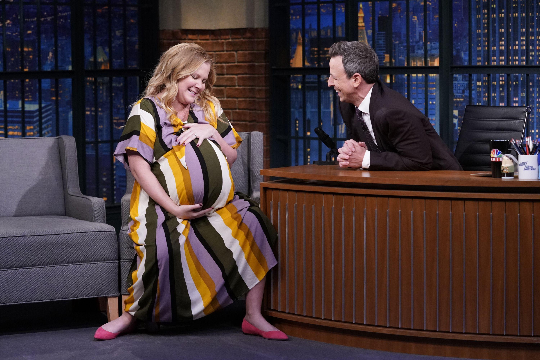 Amy Schumer padece hiperémesis gravídica y admite que no para de vomitar en su recta final de embarazo