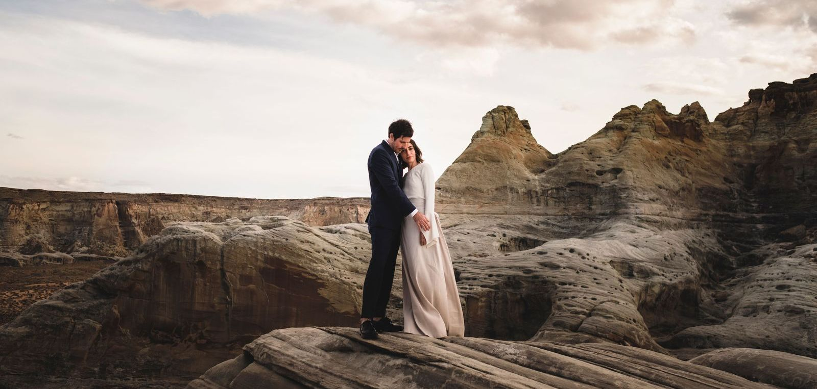 This Antelope Canyon Elopement Was All About Fashion, Photography & the Couple