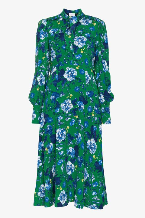 Clothing, Green, Blue, Day dress, Turquoise, Sleeve, Dress, Aqua, Electric blue, Outerwear,