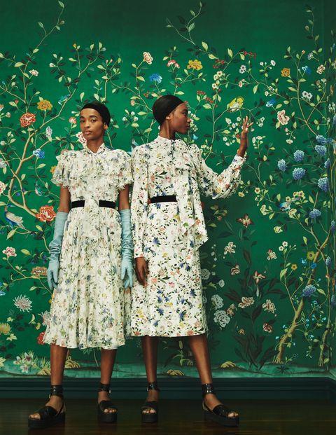 Green, Fashion, Dress, Tree, Human, Performance, Fun, Plant, Fashion design, Event,