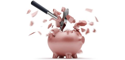 Piggy bank, Saving, Animation, Money handling, Domestic pig, Suidae, Material property, Currency,