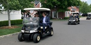 Eric Trump Bedminster Golf Cart