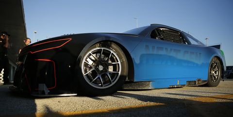 nascar tests next gen cup car at homestead miami speedway