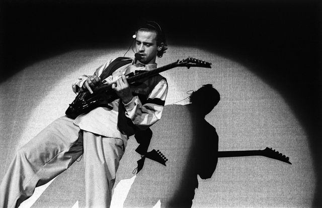 eros ramazzotti performs on stage at ahoy, rotterdam, netherlands, 17th october 1990 photo by rob verhorstredferns