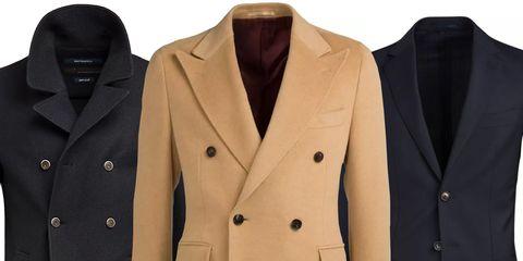 Clothing, Outerwear, Blazer, Jacket, Button, Suit, Formal wear, Beige, Coat, Sleeve,