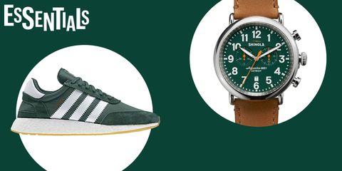 Watch, Green, Watch accessory, Fashion accessory, Jewellery, Analog watch, Brand, Strap,