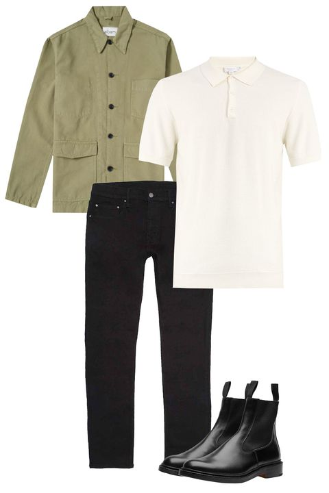 White, Clothing, Footwear, Product, Sleeve, Formal wear, Suit, Uniform, Trousers, Shoe,