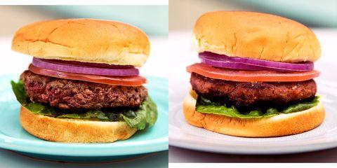 Food, Hamburger, Dish, Buffalo burger, Cuisine, Veggie burger, Burger king premium burgers, Ingredient, Fast food, Junk food,