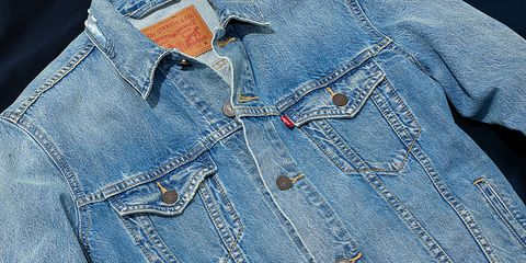 Denim, Jeans, Clothing, Pocket, Textile, Button, Collar, Sleeve, Outerwear, Pattern,
