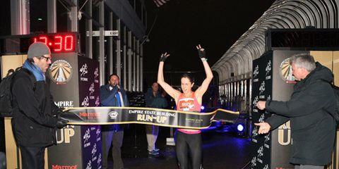 Women's winner of the 2015 Empire State Building Run-Up