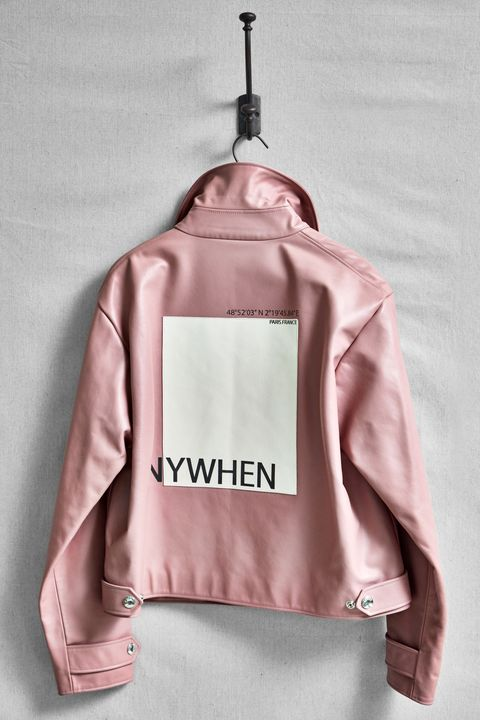 Clothing, Pink, Clothes hanger, Outerwear, Jacket, Sleeve, Peach, Textile, Top, Sweatshirt,