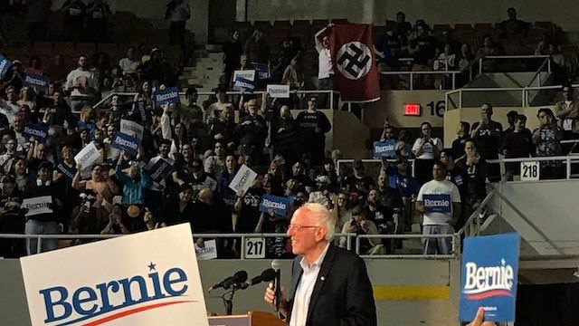 The Nazi Flag Unfurled at a Bernie Sanders Rally Illustrates the Stakes of This Election