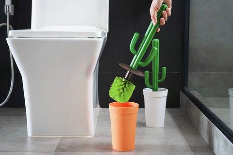 Escobilla WC con forma de cactus