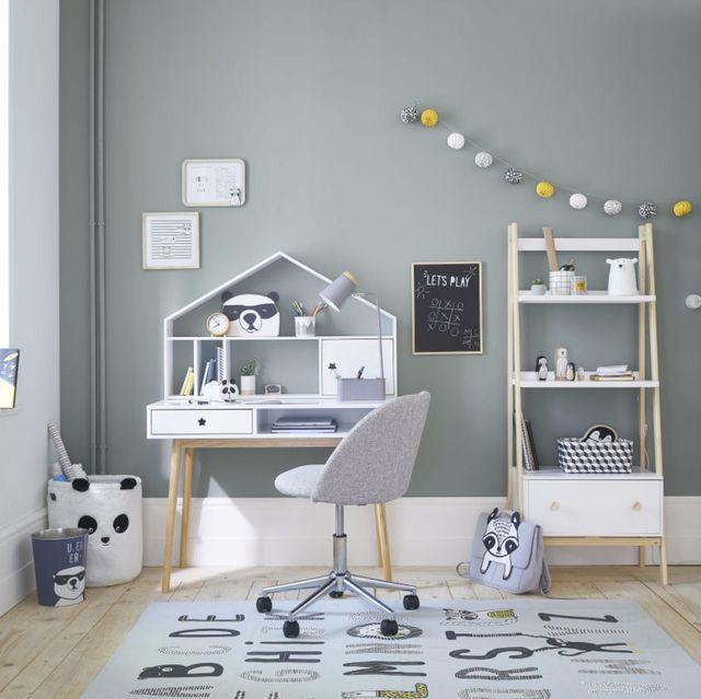 escritorio infantil nórdico en color blanco