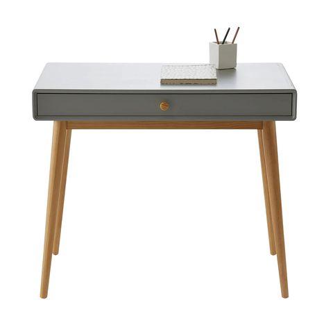 escritorio gris con 1 cajón jimi