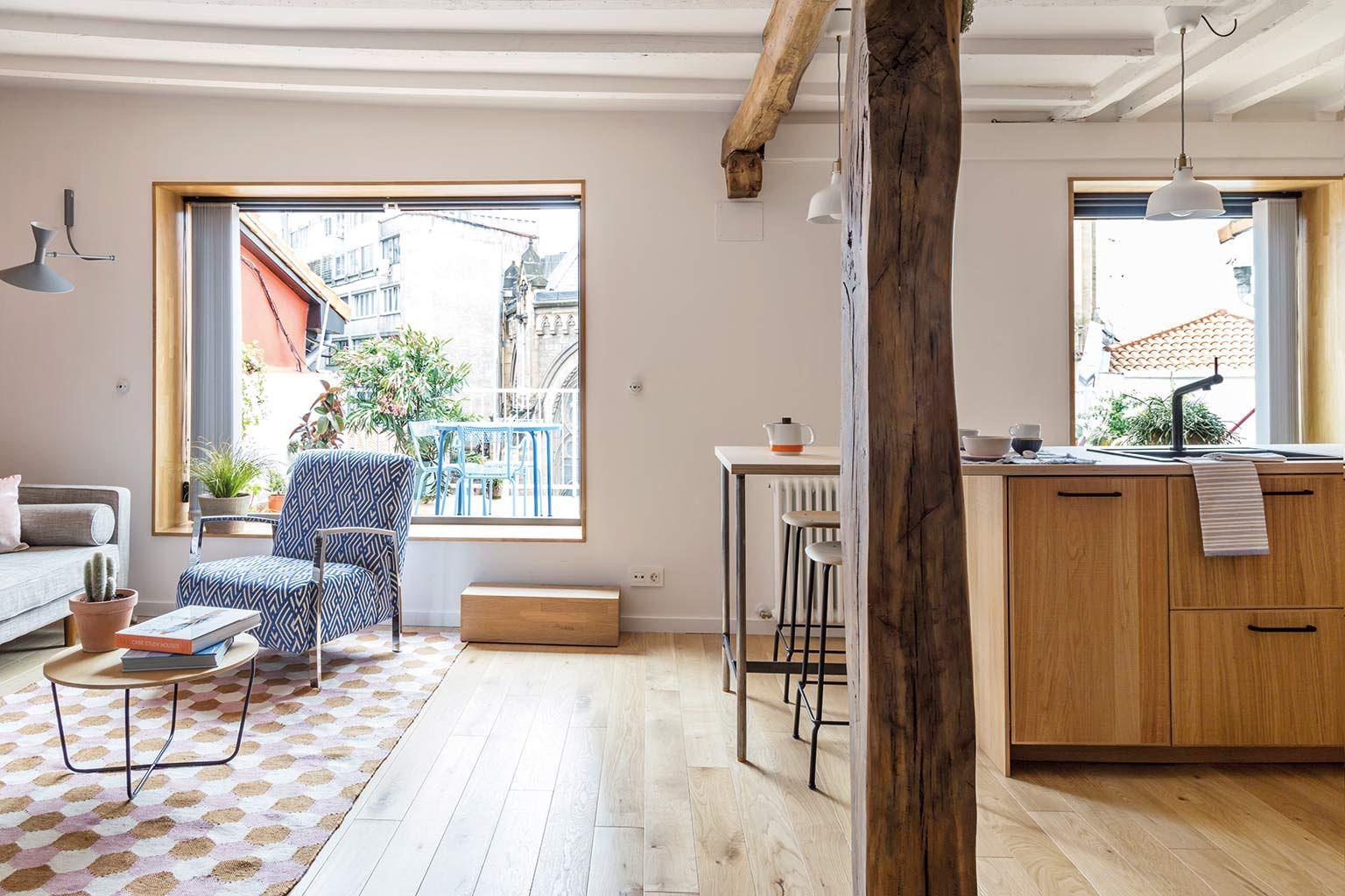 Salón y cocina integrados