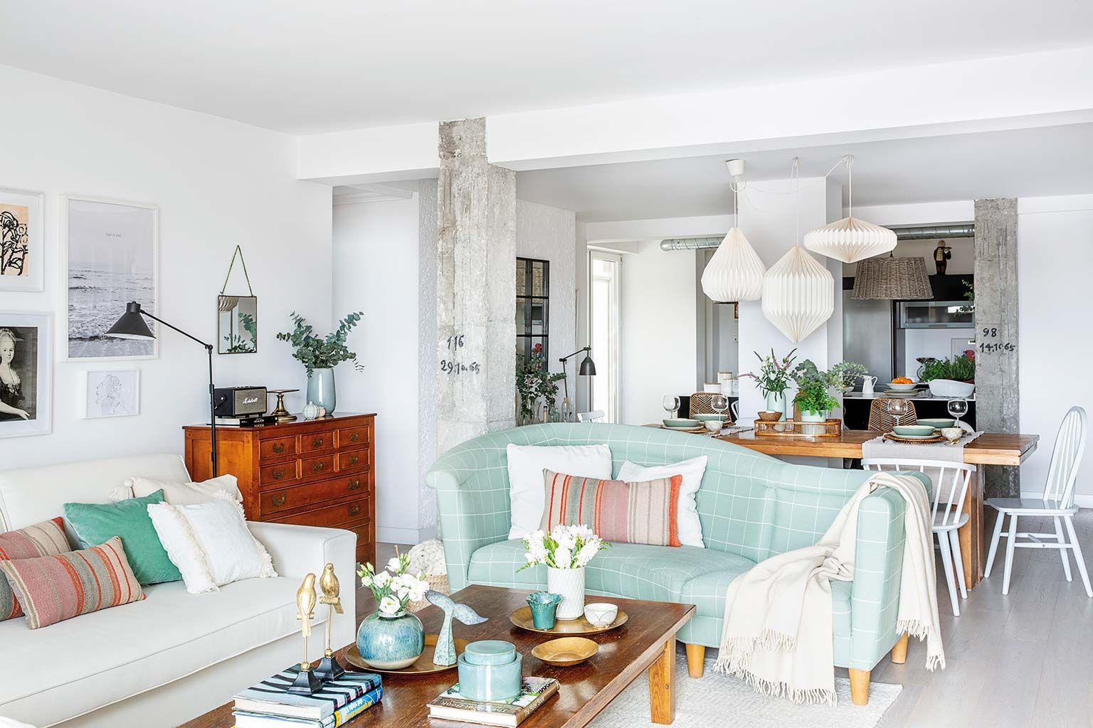 Casa de Paula Duarte interiorista: Salón, comedor, cocina