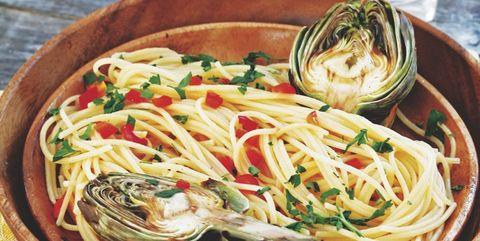 Food, Cuisine, Ingredient, Produce, Dishware, Tableware, Noodle, Cutlery, Dish, Kitchen utensil,