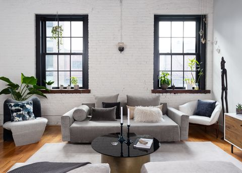 Living room, Room, Furniture, Interior design, Property, Coffee table, Couch, Building, Table, House,