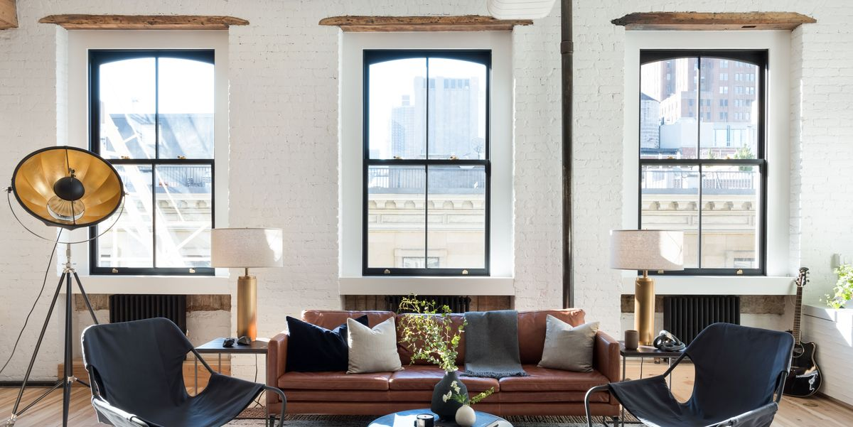 Tour homepolish co founder will nathan 39 s industrial loft - Decoration loft design masculin daniel hopwood ...