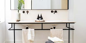 Cuarto de baño moderno y vintage: lavabo