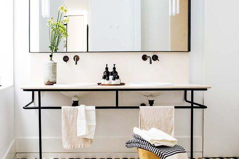 cuarto de baño moderno y vintage lavabo