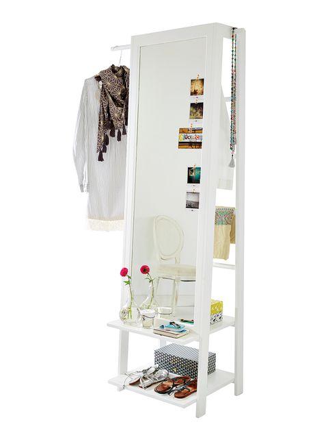 Espejo vertical blanco