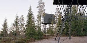 PAN Tretopphytte, Espen Surnevik – foresta di Finnskogen, Norvegia.