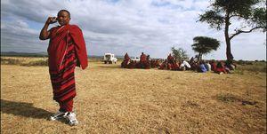 Tanzanite : The Blue Diamond Of The Masai On January 6Th, 2002, Tanzania.