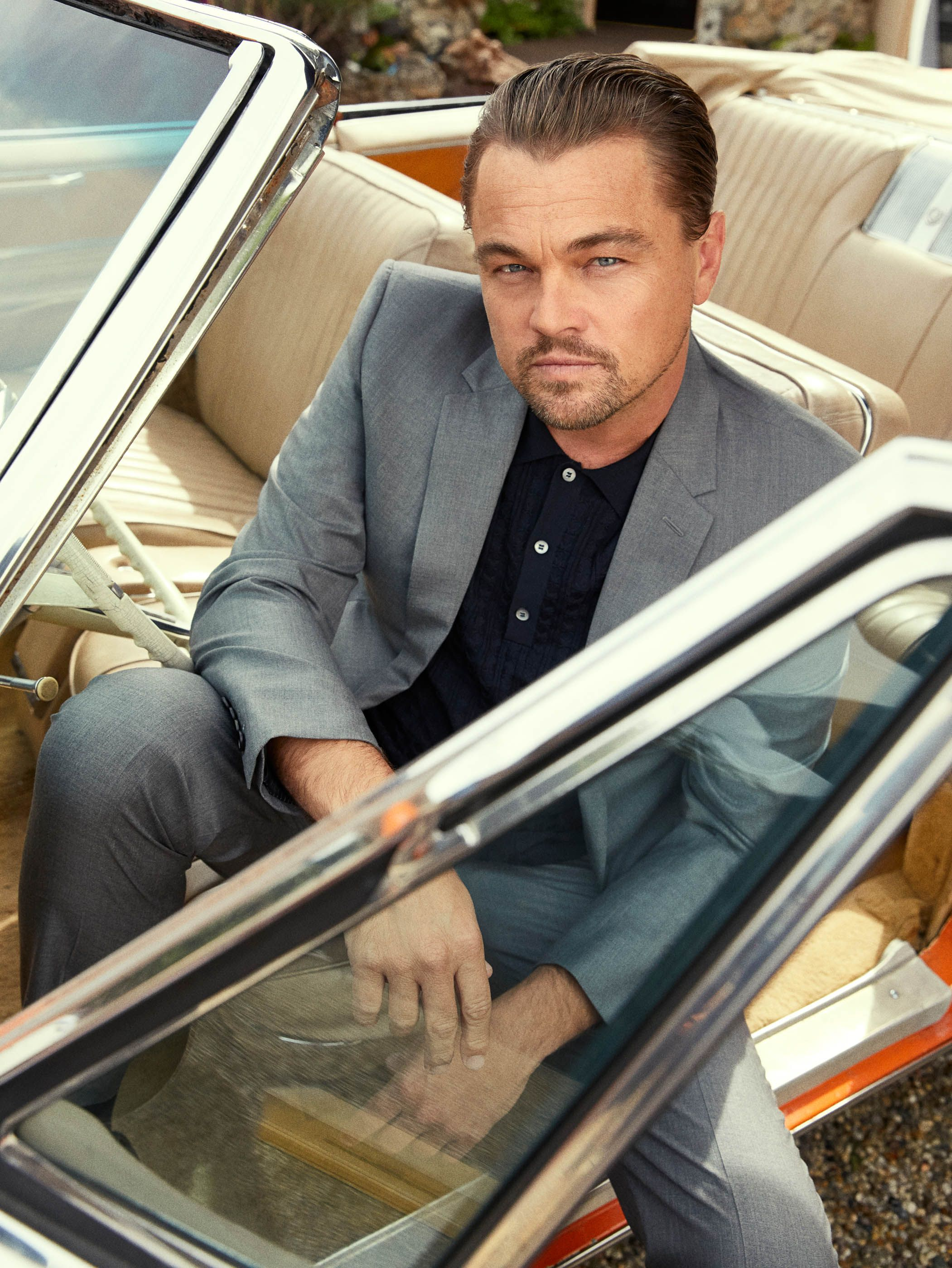 Leonardo DiCaprio, from Esquire's Summer cover shoot. His performance as an actor whose star is falling serves as the film's emotional centerpiece.