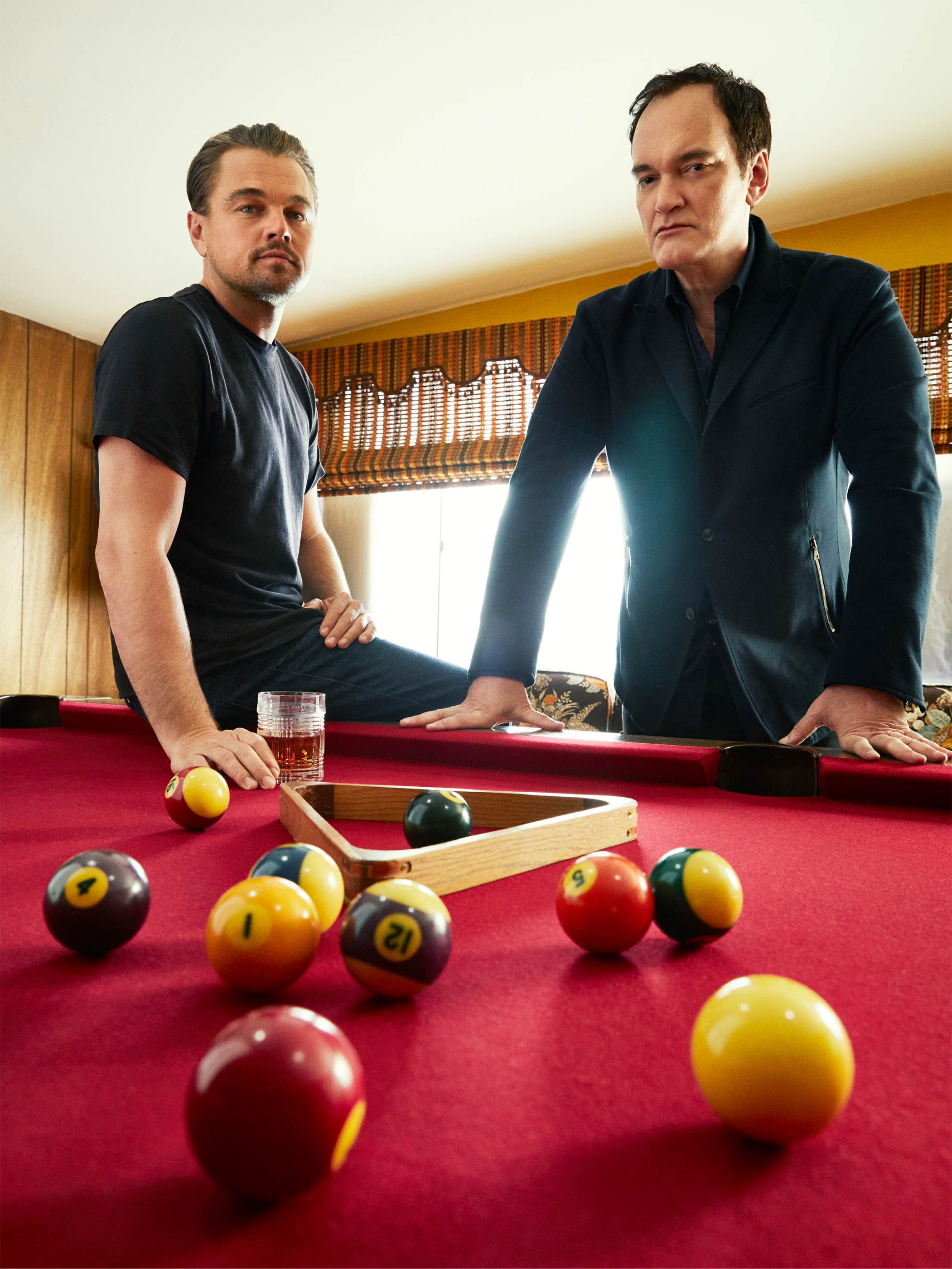"""Leonardo DiCaprio and Quentin Tarantino """"1969 is a seminal time in cinema history... Quentin so brilliantly captures through these characters' eyes how Hollywood was changing."""" —Leonardo DiCaprio"""