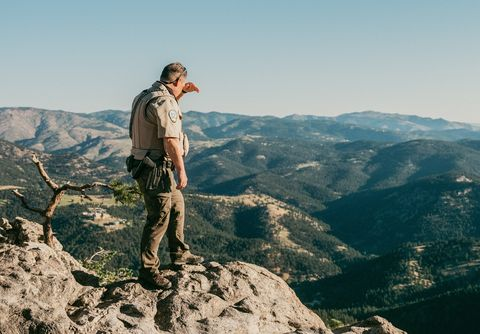 rick hatfield looks out over lost gulch, an area where he said that he could remember three suicides off the top of his head