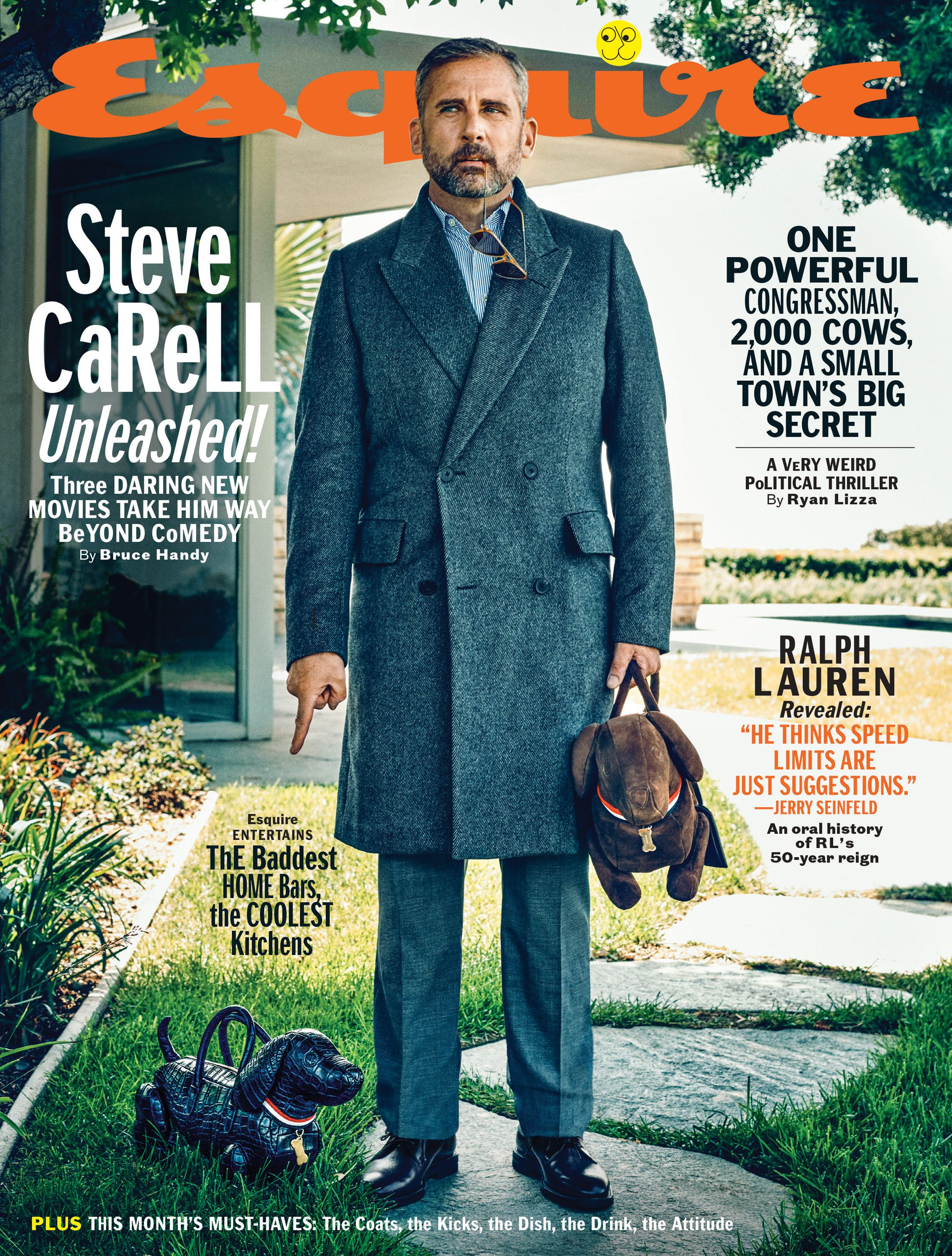 Esquire's November cover star talks about the iconic scene, working with Christian Bale, and yes, mime training.