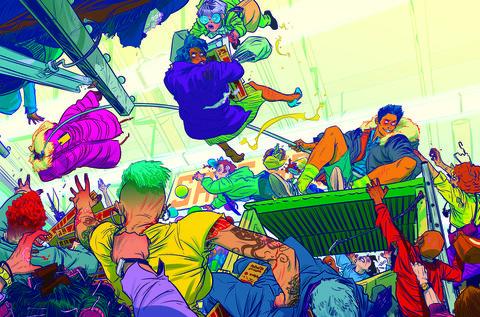 Illustration, Cartoon, Art, Fiction, Fictional character, Graphic design,